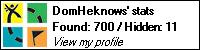 Geocaching.Com stat bar showing 700 geocaches found